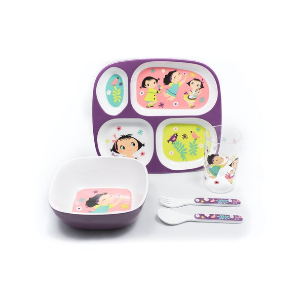 Doll Girl Melamine Five-piece Gift Set