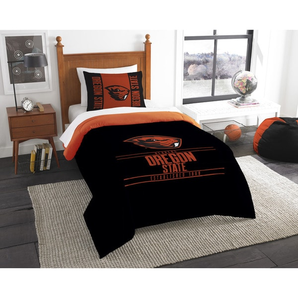 COL 862 Oregon State Modern Take Twin 2-piece Comforter Set