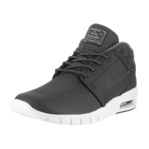 Nike Men's Stefan Janoski Max Mid Anthracite/Anthracite Metallic Skate Shoes