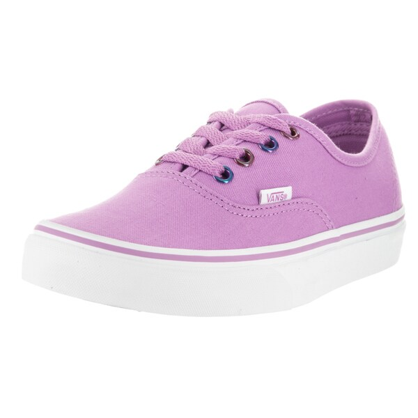Vans Unisex Authentic Multi Metallic Violet Canvas Skate Shoes