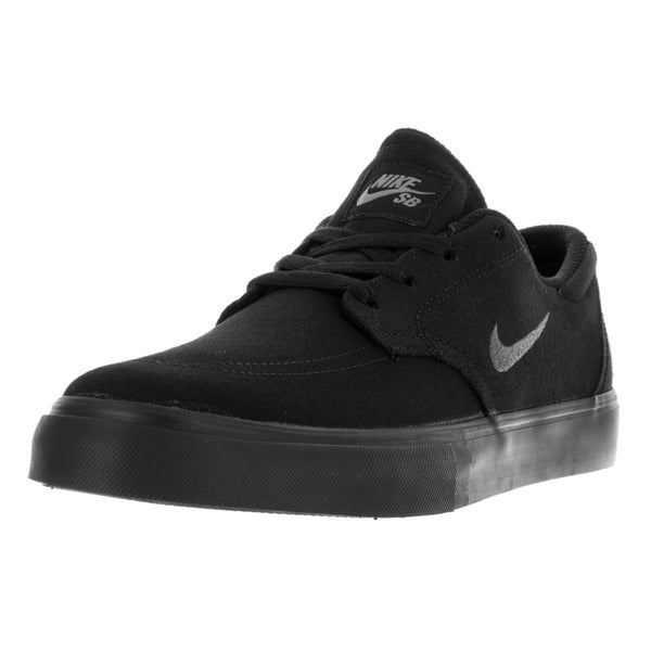 Nike Men's SB Clutch Black, Anthracite, and Dark Grey Canvas Skate Shoes