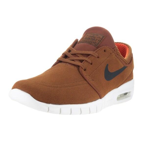 Nike Men's Stefan Janoski Max L Hazelnut/Black/Ivory/Clay Orange Skate Shoes