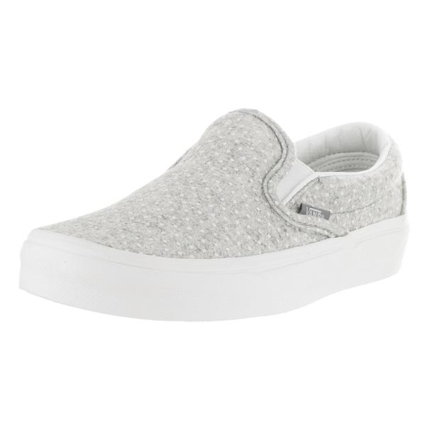 Vans Unisex Classic Slip-On Blanc de Blanc and Polka Dots Skate Shoe