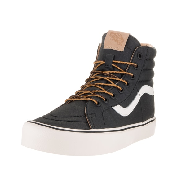 Vans Unisex Sk8-Hi Reissue Lite Heritage Black and Classic White Canvas Skate Shoes