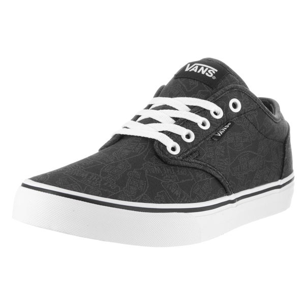 Vans Men's Atwood Black and White Canvas Skate Shoes