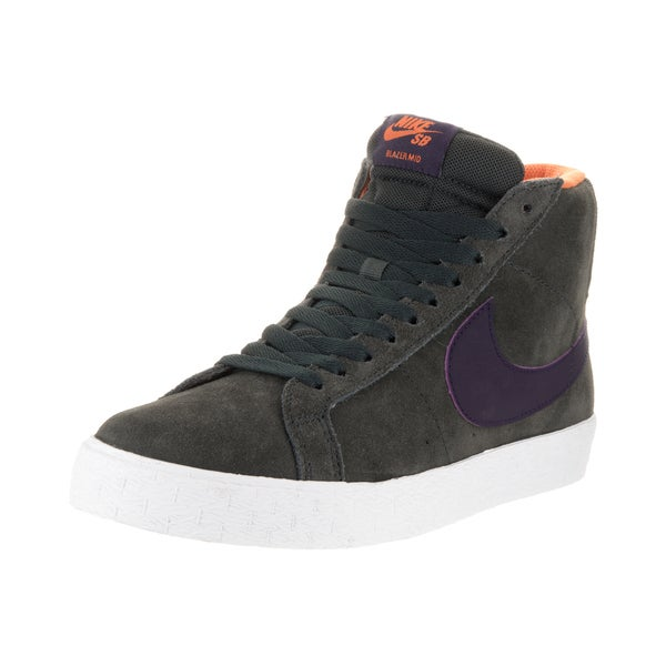 Nike Men's Blazer SB Premium SE Anthracite/Purple Dynasty Skate Shoes