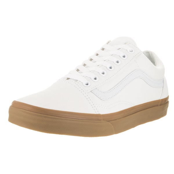 Vans Unisex Old Skool Canvas Gum True White/Light Gum Canvas Skate Shoes