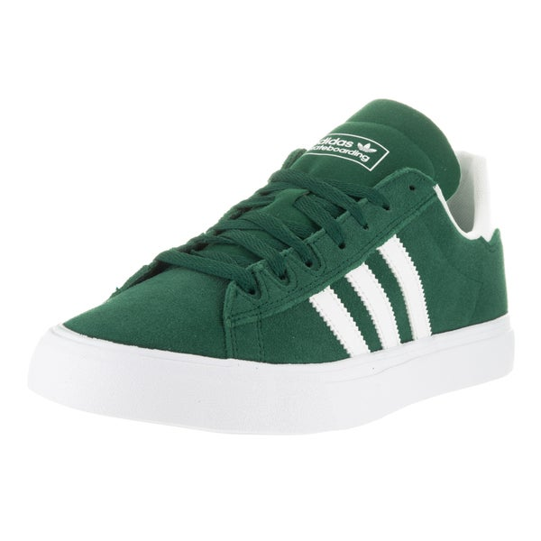 Adidas Men's Campus Vulc II Green and White Skate Shoe