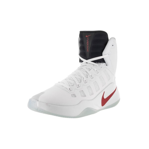 Nike Men's Hyperdunk 2016 White, Brt Crimson, Dk Obsidian Basketball Shoe