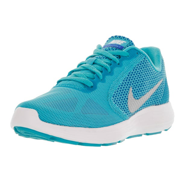 Nike Women's 'Revolution 3' Gamma Blue, Metallic Silver, Photo Blue, and Gamma Ray Plastic Running Shoes