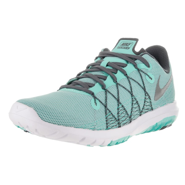 Nike Women's Flex Fury 2 Hyper Turquoise, Metallic Silver, Wolf Grey, Dark Grey, Running Shoe
