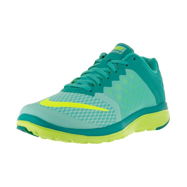 Nike Women's FS Lite Run 3 Hyper Turq/Volt Clr Jade White Running Shoe