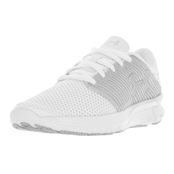 Under Armour Women's UA Charged Reckless White Textile Running Shoes