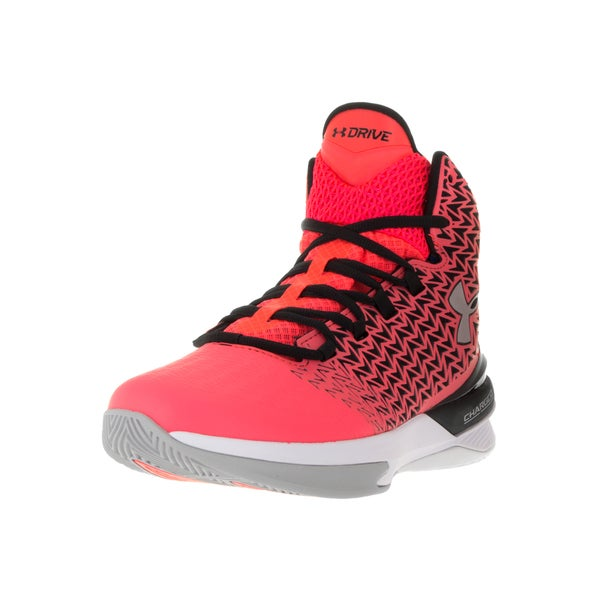Under Armour Women's Clutchfit Drive 3 Pink and Black Plastic Basketball Shoes