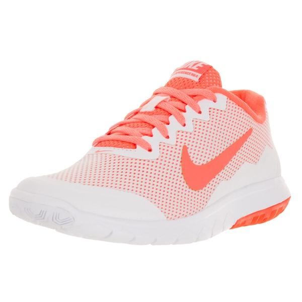 Nike Women's Flex Experience Rn 4 White/Bright Mango Running Shoes