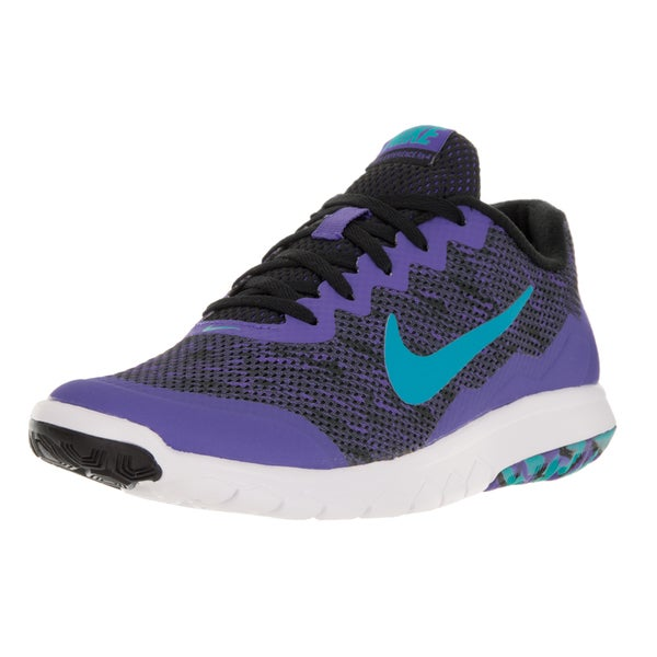 Nike Women's Flex Experience RN 4 Prem Black and Purple Running Shoe