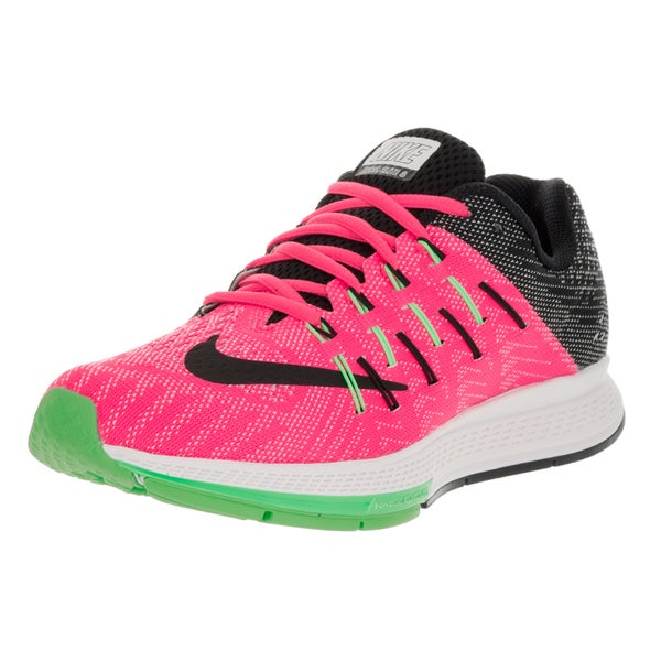 Nike Women's Air Zoom Elite 8 Pink Blast, Black, White, and Electric Green Synthetic Running Shoes