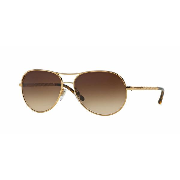 Burberry Women BE3082 121013 Gold Metal Cateye Sunglasses