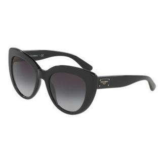 Dolce&Gabbana Women DG4287 501/8G Black Cat Eye Sunglasses