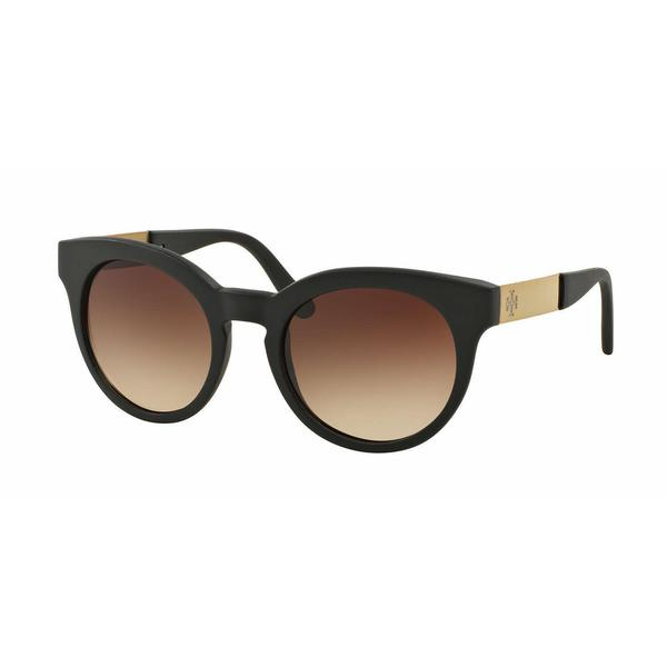 Tory Burch Women TY9044 105813 Black Metal Round Sunglasses
