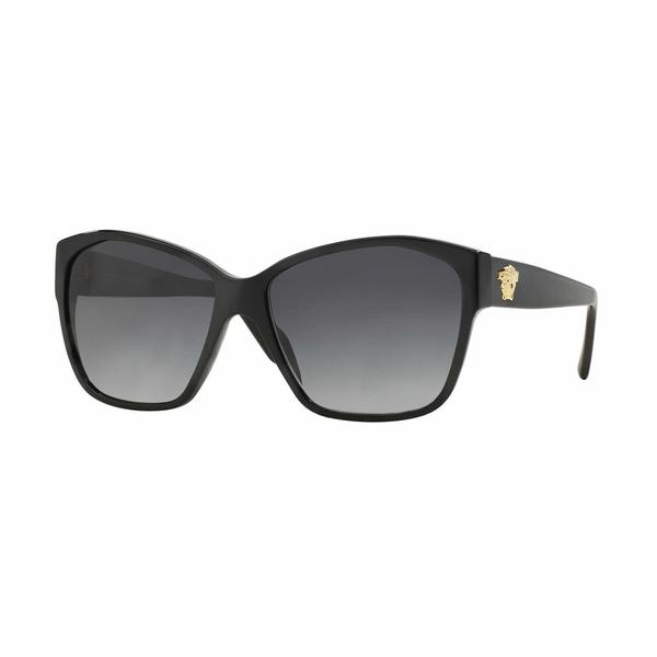 Versace Women VE4277A GB1/8G Black Plastic Rectangle Sunglasses
