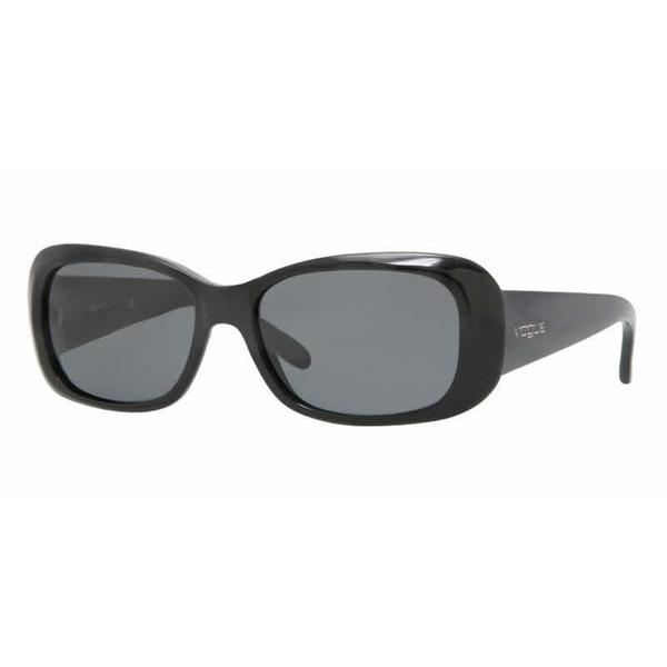 Vogue Women VO2606S W44/87 Black Plastic Rectangle Sunglasses