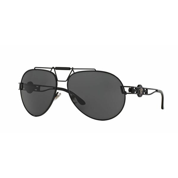 Versace Women VE2160 100987 Black Cateye Sunglasses
