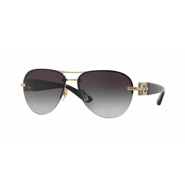 Versace Women VE2159B 12528G Gold Plastic Cateye Sunglasses