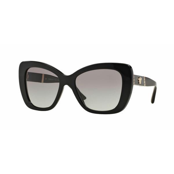 Versace Women VE4305Q GB1/11 Black Rectangle Sunglasses