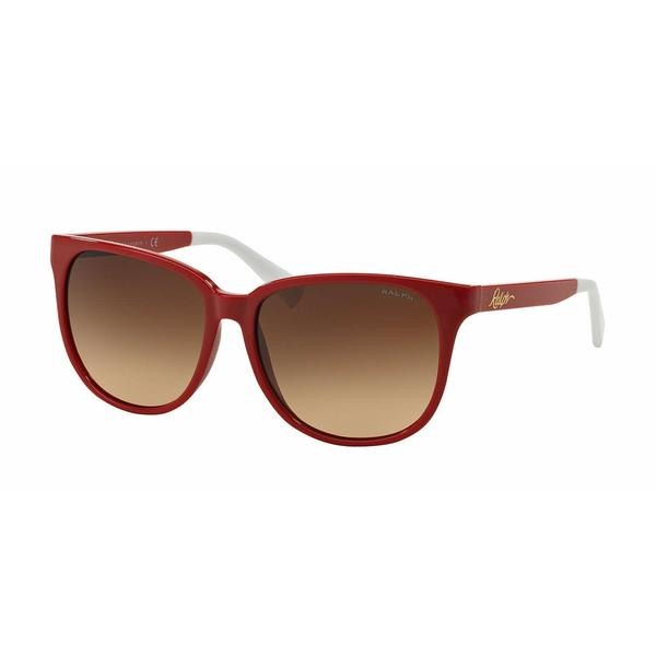 Ralph Women RA5194 103013 Red Plastic Square Sunglasses