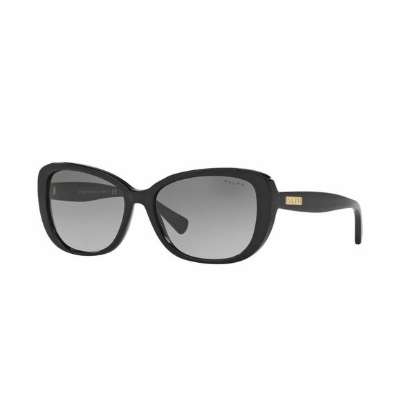Ralph Women RA5215 137711 Black Plastic Rectangle Sunglasses