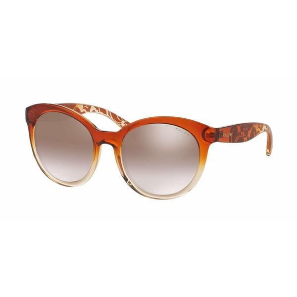 Ralph Women RA5211 15156F Light Brown Plastic Cat Eye Sunglasses