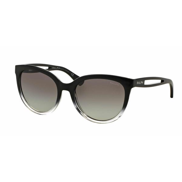 Ralph Women RA5204 144811 Black Plastic Round Sunglasses