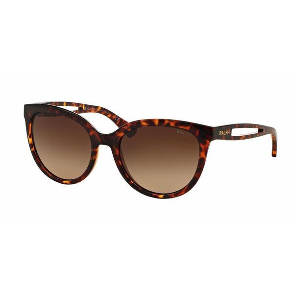 Ralph Women RA5204 144213 Havana Plastic Round Sunglasses