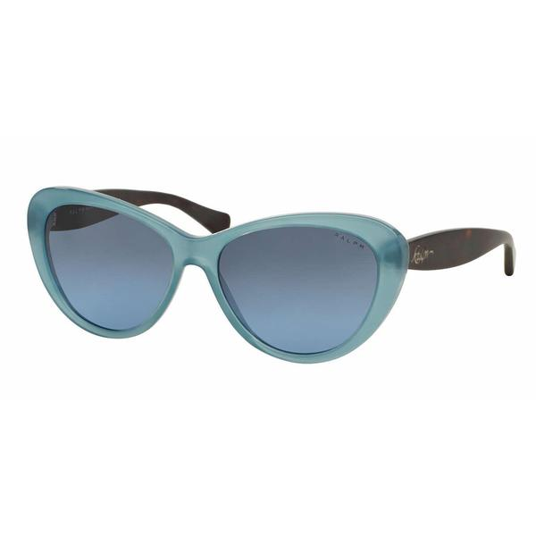 Ralph Women RA5189 13758F Blue Plastic Cat Eye Sunglasses