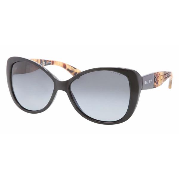 Ralph Women RA5180 501/T3 Black Plastic Rectangle Sunglasses
