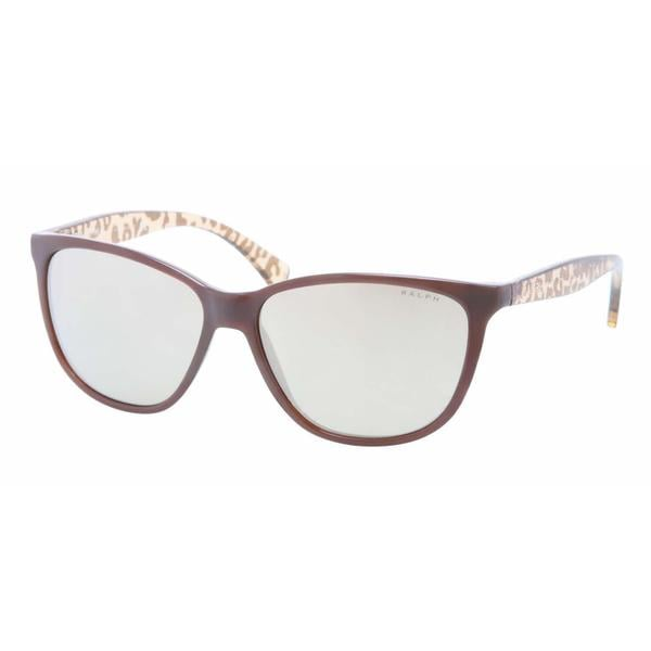 Ralph Women RA5179 12575A Brown Plastic Cat Eye Sunglasses