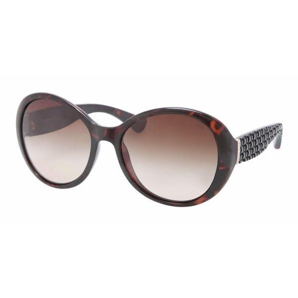 Ralph Women RA5175 502/13 Havana Plastic Round Sunglasses