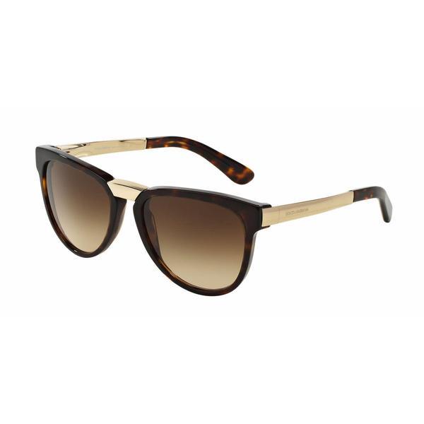 Dolce&Gabbana Women DG4257 502/13 Havana Metal Square Sunglasses