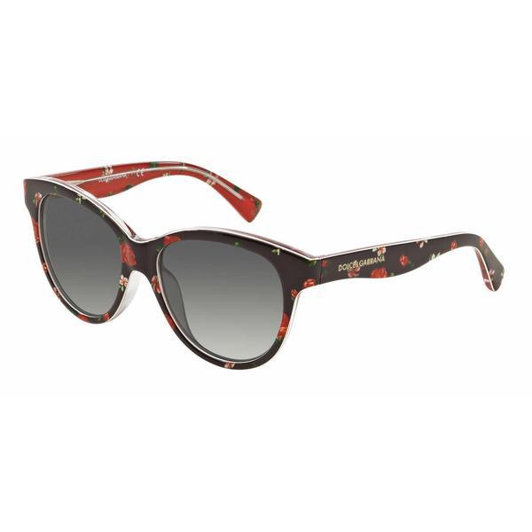 Dolce&Gabbana Women DG4176 MATT SILK 29868G Plastic Round Sunglasses