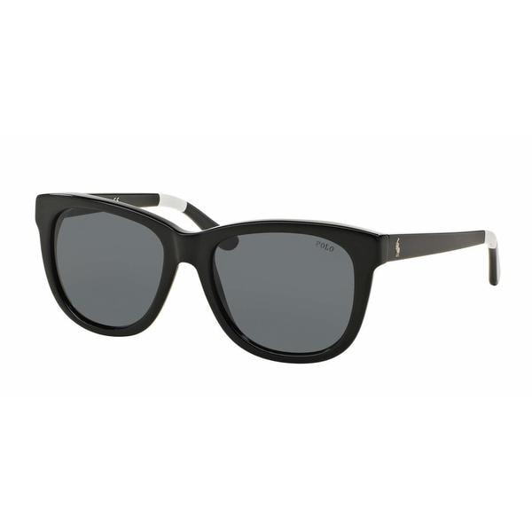 Polo Women PH4105 557287 Black Plastic Square Sunglasses