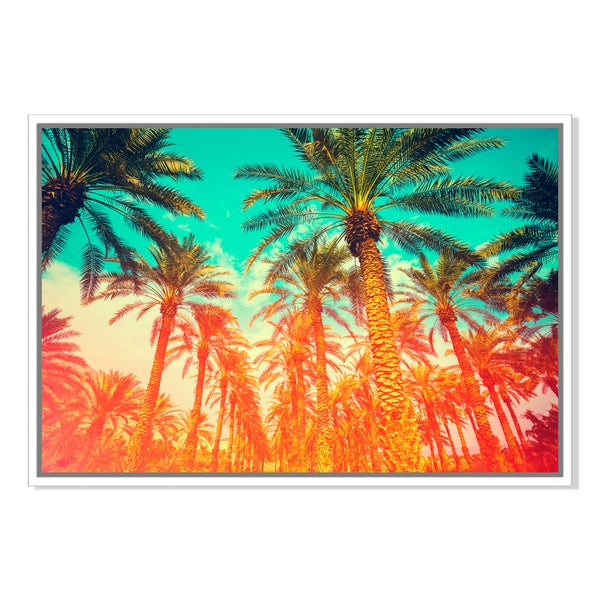 Vintage date palm trees