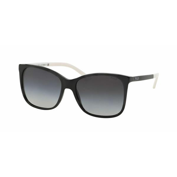 Polo Women PH4094 55298G Black Plastic Rectangle Sunglasses