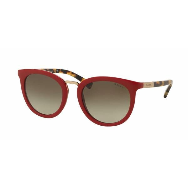 Ralph Women RA5207 15058E Red Plastic Round Sunglasses