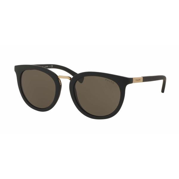 Ralph Women RA5207 105873 Black Plastic Round Sunglasses