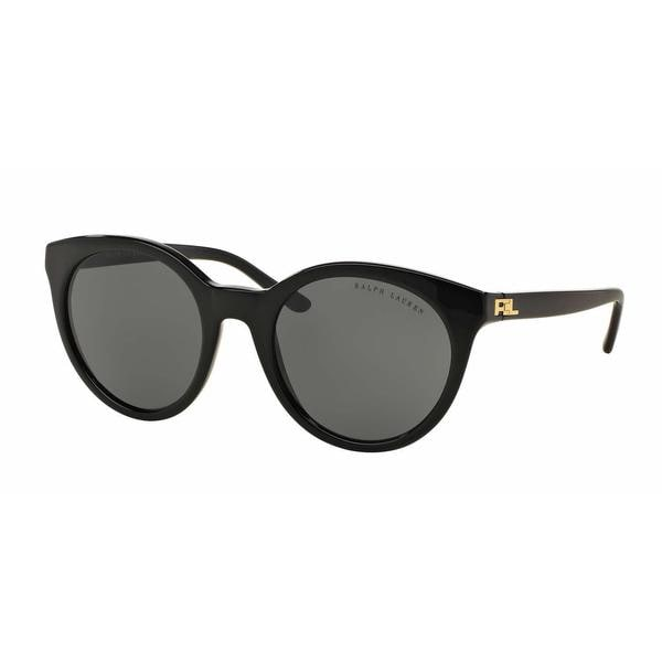 Ralph Lauren Women RL8138 500187 Black Plastic Rectangle Sunglasses
