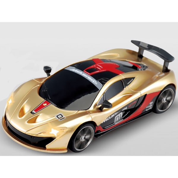 Red and Gold Remote-Controlled Racing McLaren Micro Car 22077419