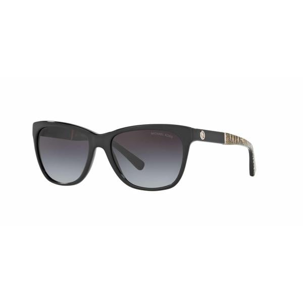 Michael Kors Women MK2022 RANIA II 316811 Black Plastic Square Sunglasses