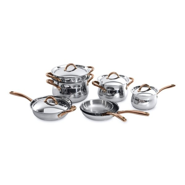 BergHOFF Ouro Rose Gold-tone 18/10 Stainless Steel 11-piece Cookware Set 22077937