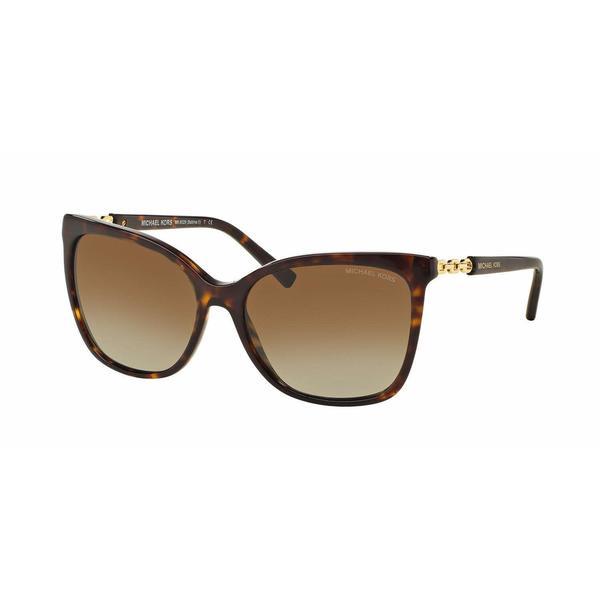 Michael Kors Women MK6029 3106T5 Havana Plastic Square Sunglasses